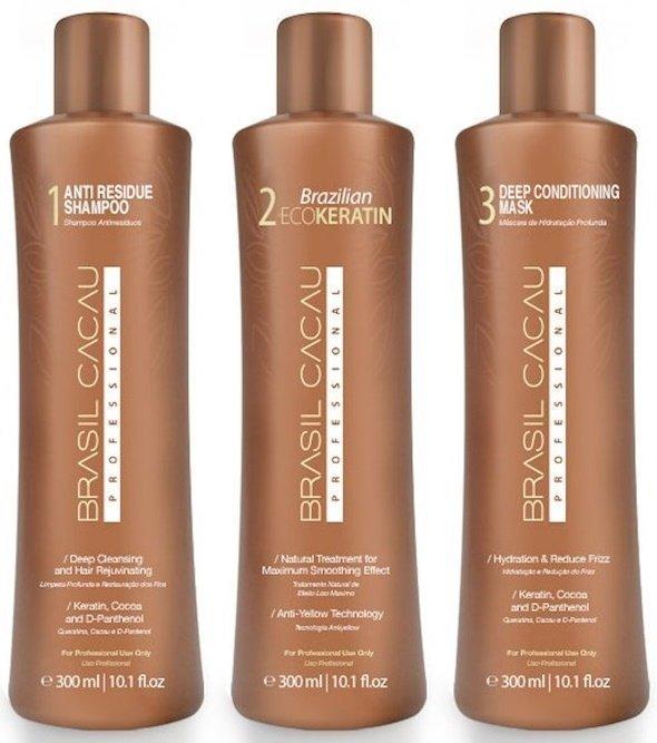 a5f83dc5b4fe3 Brasil Cacau EcoKeratin Kit Shampoo + Treatment + Mask 3x300ml