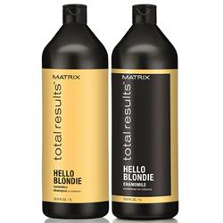 Kit Total Results Hello Blondie Shampoo 1000ml + Conditioner 1000ml